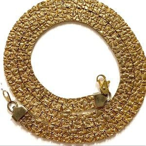 Vintage golf nugget chain necklace